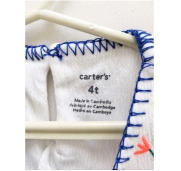 Bata branca bordada - Carters - 4 anos - Carter`s