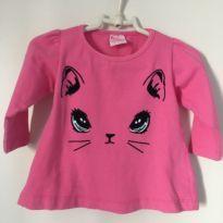 camiseta gatinha - 9 a 12 meses - For Girl