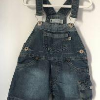 jardineira jeans - 9 a 12 meses - Baby Club