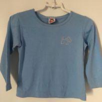 camiseta azul com detalhe brilho - 12 a 18 meses - Kidstok