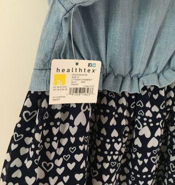 Vestido jeans - 3 anos - Healthtex