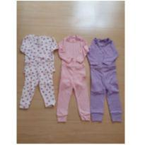 Kit com conjuntinhos de pijamas - 0 a 3 meses - Girassol Baby