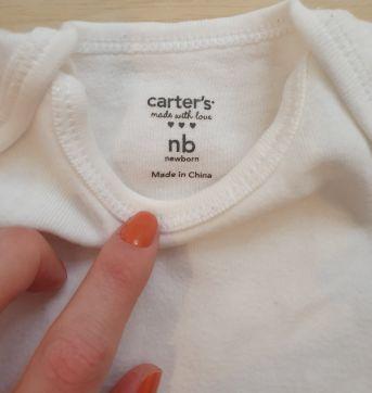 body carters branco - Recém Nascido - Carter`s