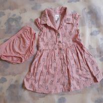 Vestido rosa de corujinhas