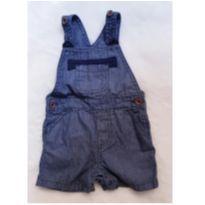 Jardineira/Macacão Jeans Baby Club - 3 a 6 meses - Baby Club