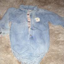 Body jeans - 9 a 12 meses - Puramania
