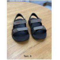 Sandália Crocs Infantil Swiftwater™ River Sandal - Preta e Cinza - 24 - Crocs
