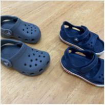Promoção - Conjunto Crocs Sandália + Clog Tam 23 - 23 - Crocs