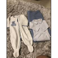 Saida Maternidade tricot com manta - 0 a 3 meses - Não informada e Marca não registrada