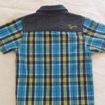Camisa xadrez Tigor 2P - 2 anos - Tigor T.  Tigre