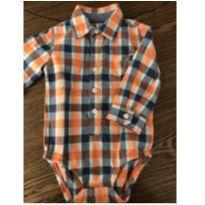 Body Camisa Xadrez - 18 meses - OshKosh