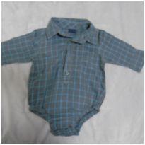 Body estilo camisa GAP - 3 a 6 meses - Baby Gap