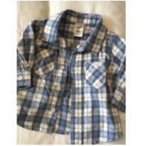 Camisa Xadrez Manga Comprida - 3 a 6 meses - TINY LITTLE - Importado da Australia