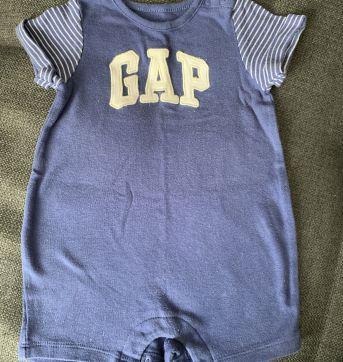 Macaquinho Azul - 3 a 6 meses - Baby Gap