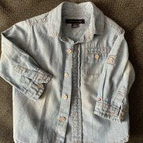 Camisa Jeans - 6 a 9 meses - Tommy Hilfiger