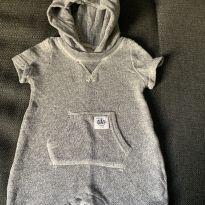 Macaquinho Cinza Mescla - 0 a 3 meses - Baby Gap
