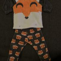 Pijama Plush Raposa - 9 a 12 meses - Puket