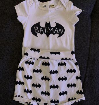 Body + Cobre fraldas do Batman - 0 a 3 meses - H&M