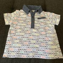 Camiseta Polo Óculos - 6 a 9 meses - Koala Kids