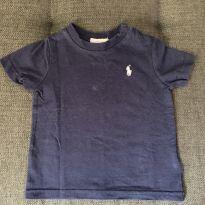 Camiseta Azul Marinho - 6 meses - Ralph Lauren