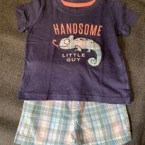 Camiseta + Shorts Handsome - 9 meses - Carter`s