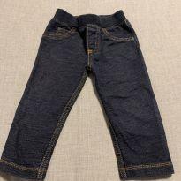 Calça Moleton Jeans - 12 a 18 meses - Carter`s