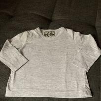 Camiseta Cinza Mescla - 9 meses - Nosh