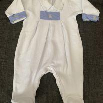 Macacão Azul Bebê Urso - 0 a 3 meses - Silmara