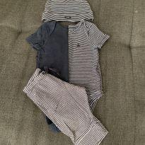 Kit 2 Bodies + Calça + Gorro - 3 a 6 meses - Baby Gap
