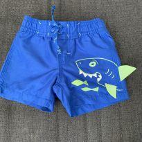 Shorts Praia Tubarão - 3 a 6 meses - Baby Gap