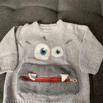Tricot Monstrinho - 12 a 18 meses - Zara Baby