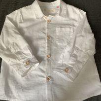 Camisa Branca Zara - 12 a 18 meses - Zara Baby