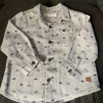 Camisa Cinza - 12 a 18 meses - Zara Baby
