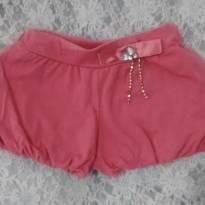 Shorts rosa estilo balonê - 3 anos - Beijinho