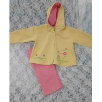 Conjunto moletom amarelo e rosa - 3 a 6 meses - Statton