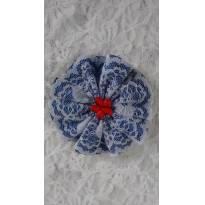 Presilha linda branca e azul - Sem faixa etaria - Artesanal