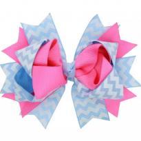 Laço boutique azul com rosa - Sem faixa etaria - Importada