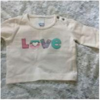 Blusinha love - 6 meses - Tip Top
