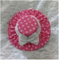 Chapéu poá rosa -  - Artesanal