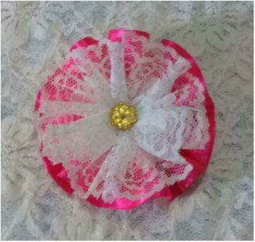 presilha emily Pink e branco - Sem faixa etaria - Artesanal