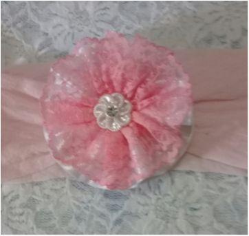 tiara emily rosa e branco - Sem faixa etaria - Artesanal