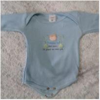 Body azul frase - 0 a 3 meses - LUIZINHO BABY