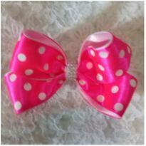 Presilha laço Julia  Pink -  - Artesanal