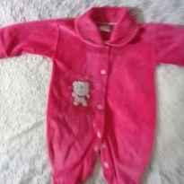 macacão rosa ursinho - 3 a 6 meses - DF Kako