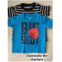 Conj. c/ 02 camisetas M/C Carters - 9 meses - Carter`s e CARTERS/TIPTOP/ZARA