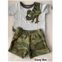 Conjunto Camuflado - 9 meses - Carters - Sem etiqueta e H&M, Carters e C&A