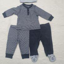 Kit calças, camisa e toca urso Carter`s - 3 meses - Carter`s