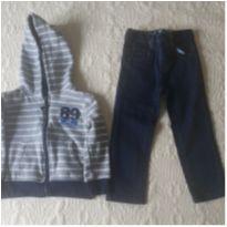 Conjunto calça jeans e moleton 2 anos - 2 anos - DKNY
