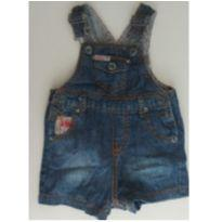 Jardineira jeans Guess 6/9 meses - 6 a 9 meses - Guess