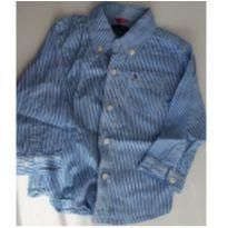 Camisa Social Tommy 18 meses - 18 meses - Tommy Hilfiger